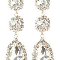 Gorgeous rhinestone fashion earrings  MME24692gdcl