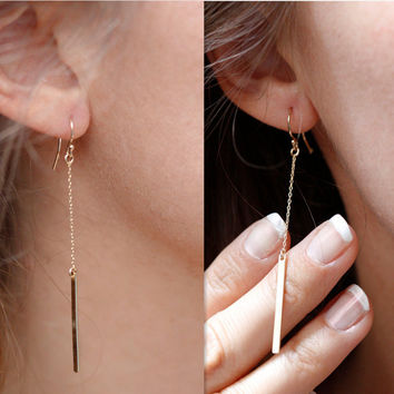 Simple Fashion Tassel Strip Earrings