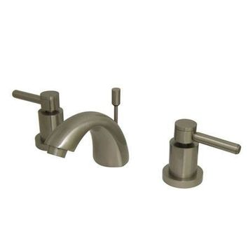 "KS2958DL Two Handle 4"" to 8"" Mini Widespread Lavatory Faucet with Brass Pop-up"