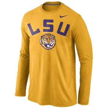 LSU Tigers Nike Attribute Long Sleeve T-Shirt – Gold
