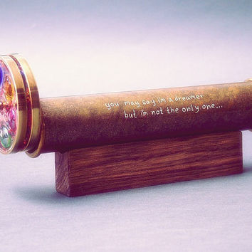 Hand Engraved For Kaleidoscope, Personalized gift