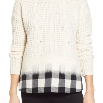 Madewell 'Wintermix' Cable Knit Sweater | Nordstrom