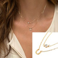 NWOT Gold layer good luck horseshoe necklace