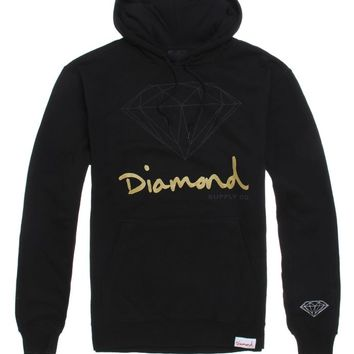 Diamond Supply Co OG Script Hoodie - Mens Hoodie - Black