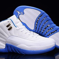 Air Jordan 12 French Blue/White jordans for men shoes