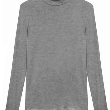 Heather Grey Turtleneck Top