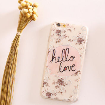 Hello Love Lace iPhone 5s 6 6s Plus creative case Gift-100