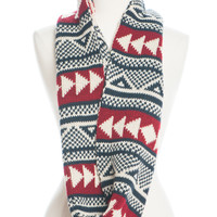 Warm Up Infinity Scarf, Navy/Red