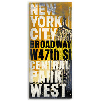 New York City by Artist Cory Steffen Wood Sign