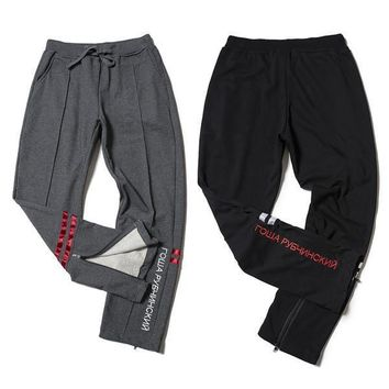 Gosha Rubchinskiy Track Pants Joggers Sweatpants Trousers Men Women Sport Parkour Harem Cargo Winter Harajuku Overalls Military Army Fashion