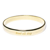 Ettika Rosé All Day Booyah Bangle Gold One