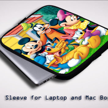 New disney mickey X0154 Sleeve for Laptop, Macbook Pro, Macbook Air (Twin Sides)