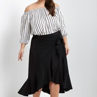 Flamenco Wrap Skirt Plus Size