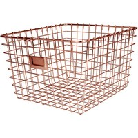 Spectrum Medium Storage Basket, Copper - Walmart.com