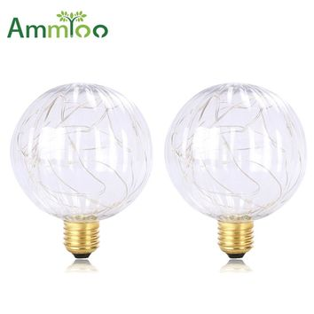 AmmToo E27 Led Art Lamp AC85-265V Christmas Lights Luminaria Vintage Weihnachten Led String Light Christmas Decorations For Home