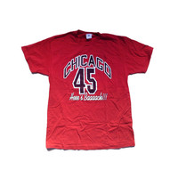 Large Bulls Michael Jordan 45 Chicago Bulls 90s NBA Large Shirt - Chicago Bulls Basketball - NBA Michael Jordan - Christmas Gift