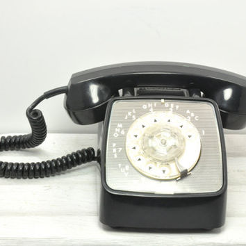 Black Rotary Telephone - Working GTE Automatic Electric Rotary Dial Phone