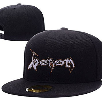 HAIHONG Venom Band Logo Adjustable Snapback Embroidery Hats Caps - Black