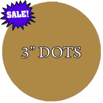 Polka Dots Circles 3 Inch Pack of (20) Peel & Stick Decal Wall Dots Colors Choice Kids VWAQ-555GLD