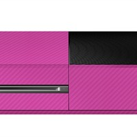 Xbox One Cover/Skin - Carbon Fiber Pink from Slickwraps