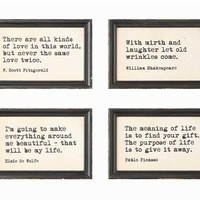 Famous Quotes in Wood Frames | 4 Quotes Available