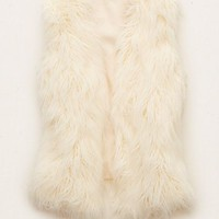 Aerie Women's Faux Fur Vest (Cream)