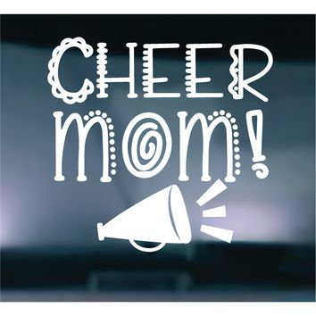 Cheer MOM Vinyl Graphic Decal