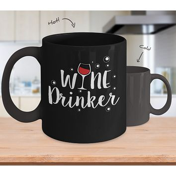 Wine Drinker Hot And Cold Coffee Mug Lover