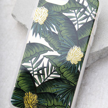 Sonix Coco Banana Clear and Green Leaf Print iPhone 7 Case