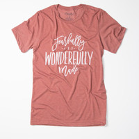Fearfully & Wonderfully Made - Tee (Clay)