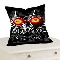 "Legend Of Zelda Majoras mask Quotes Throw Pillow Case Cushion 16 ""18"" 20"" Cover"