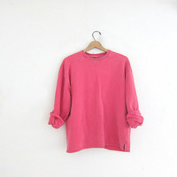 vintage pigment dyed sweatshirt. oversized pullover sweater. size M