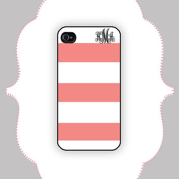 iPhone Case- Stripe Name- iPhone 4 Case, iPhone 4s Case, iPhone 5 Case, Monogram Case, Personalized iPhone Case