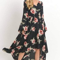 Mantra Hi-Low Floral Dress