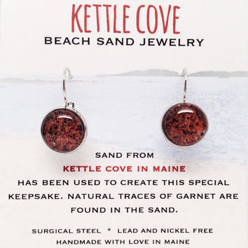 Kettle Cove Beach Sand Jewelry, Maine Sand Jewelry, Surf Jewelry, Maine Sand Earrings, Special Keepsake, Nautical Jewelry Gift