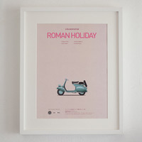 Roman Holiday inspired movie poster, print A3 Cars And Films