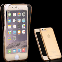 SE Ultra Thin 2 in1 Soft Clear TPU Cover For Apple iPhone 5 5S 5G SE Flexible 360 Degree Full Body Smart Touch Screen Phone Case