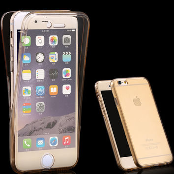i6 6S Plus Smart Touch Screen Sensitivity Without Opening Case For Apple iPhone 6 6S/6 6S Plus 360 Degree Soft Clear Phone Cover