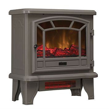 Grey Infrared Quartz Electric Fireplace Stove Heater