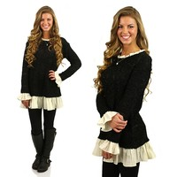 Topped With Ruffles Tunic Dress