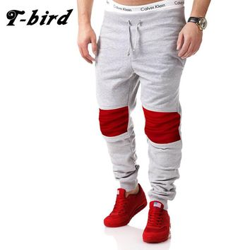 T-Bird New Arrived 2017 Brand Casual Joggers Fight Color Compression Pants Men Cotton Trousers Calabasas Cargo Pants Mens XXL