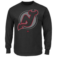 Majestic New Jersey Devils Game Reflex Long Sleeve T-Shirt - Black