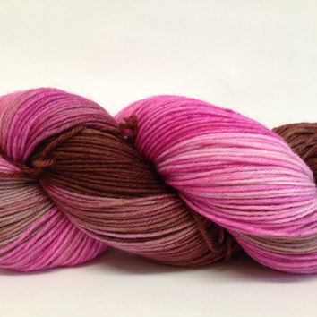 MCN, Pampered Sock, 100 grams, Color, Dipped In Chocolate, Hand Dyed yarn, cashmere, nylon, superwash merino, sock yarn