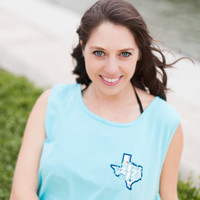 Texas Monogrammed Pigment Dyed Tank Top