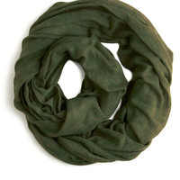 Come Full Circle Scarf in Olive | Mod Retro Vintage Scarves | ModCloth.com