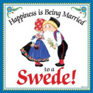 Kitchen Wall Plaques: Happily Married Swede