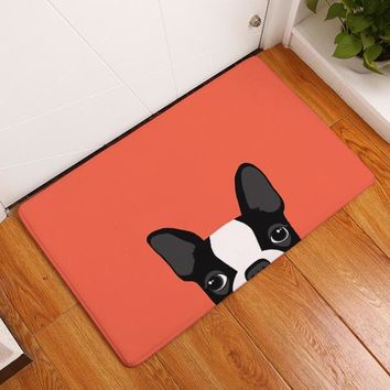 Brief Cute Cartoon Bulldog Puppy Rug