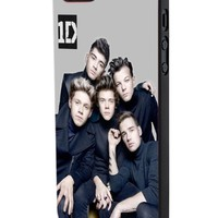 One Direction Boyband Poster Custom Case for Iphone 5/5s Iphone 6/6 Plus Black and White (iPhone 5/5s Black Plastic)