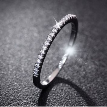 Wedding Rings Women 925 Sterling Silver Simulated Diamond Ring Jewelry