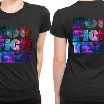 DCCKL83 Foo Fighter Logo Colorize 2 Sided Womens T Shirt